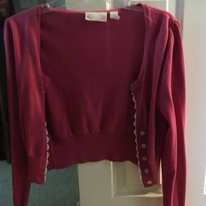 Hot Pink Red Camel Lace Shrug